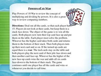 Powers of 10 War