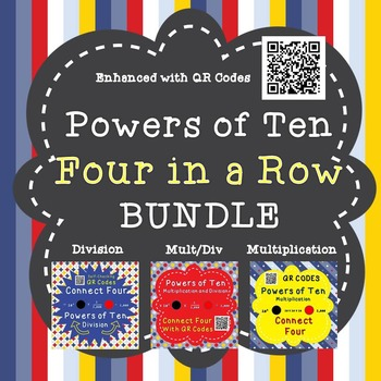 Powers of Ten - Four in a Row - BUNDLE - QR Codes