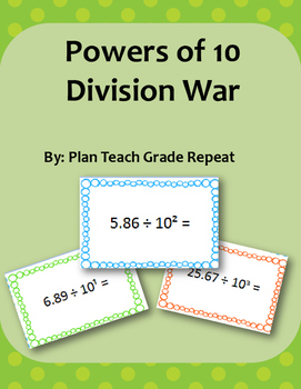 Powers of 10 Division War