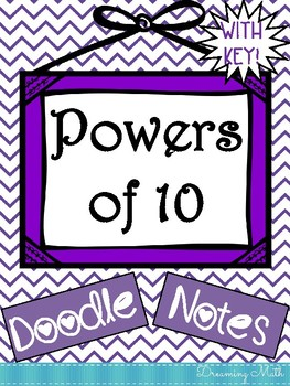 Powers of 10 Doodle Notes