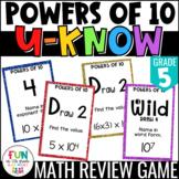 Powers of Ten Game: U-Know {5th Grade 5.NBT.1/5.NBT.2}