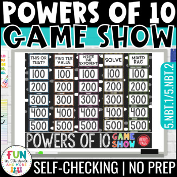 Powers of 10 Game Show PowerPoint Game | Test Prep Review Game (5th Grade)