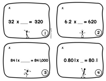 Powers of 10 - Multiplication - Four in a Row