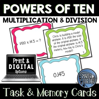 Powers of Ten - Task and Memory Cards