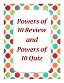 Powers of 10 (Multiplying and Dividing) - Common Core