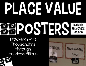 Powers of 10 Place Value Posters