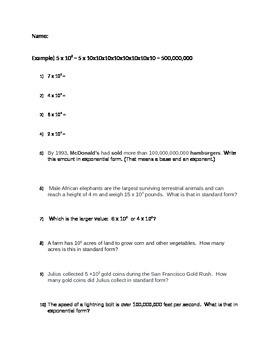 Powers of 10 Practice