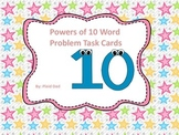 Powers of 10 Word Problem Task Cards