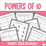 Multiply and Divide by Powers of 10 Worksheets