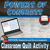 Powers of Congress Classroom Quilt Activity -Legislative Branch (Grades 7-12)