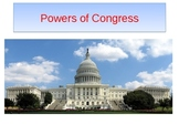 Powers of Congress PowerPoint