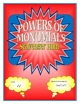 Powers of Monomials Scavenger Hunt