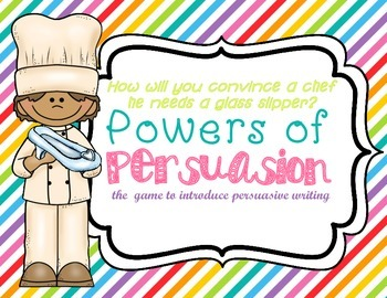 Persuasive Writing Game - Introduction to Opinion Writing