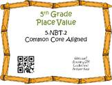 Powers of Ten Task Cards 5th Grade Math Common Core 5.NBT.