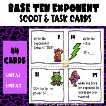 Powers of Ten / Base Ten Exponents Common Core 5th Grade BUNDLE