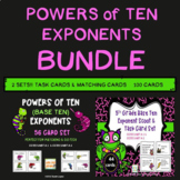Powers of Ten / Base Ten Exponents Common Core 5th Grade BUNDLE