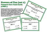 Powers of Ten Beginner Task Cards Exponents Set 1 5.NBT.3