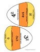 Powers of Ten and Exponents Candy Corn Matching Activity Halloween Center