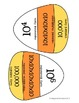 Powers of Ten and Exponents Candy Corn Matching Activity H