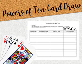 Powers of Ten Card Draw