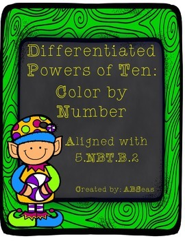 Multiplying and Dividing Powers of Ten Color by Number
