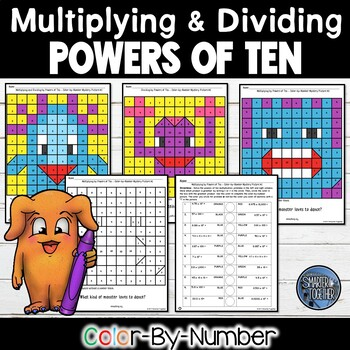 Powers of Ten Color by Number