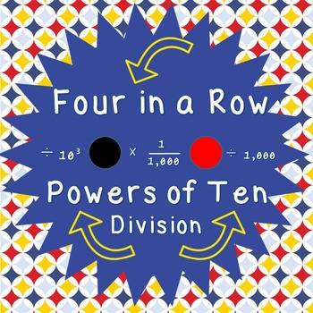 Powers of Ten - Division - Four in a Row