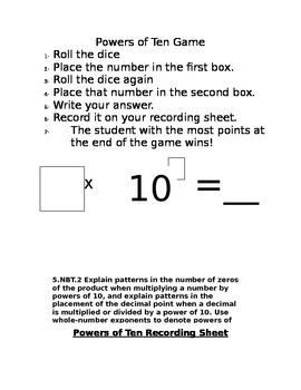 Powers of Ten Game