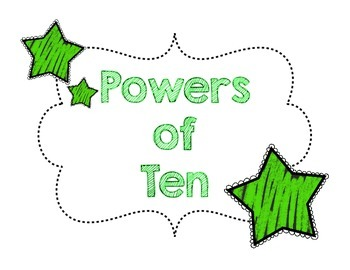 Powers of Ten Game Board