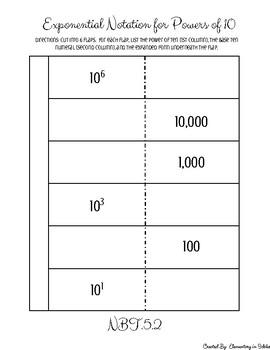 Powers of Ten Interactive Notebook FREEBIE