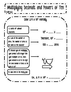 Powers of Ten Interactive Notes BUNDLE