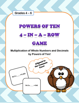 Powers of Ten Multiplication Game