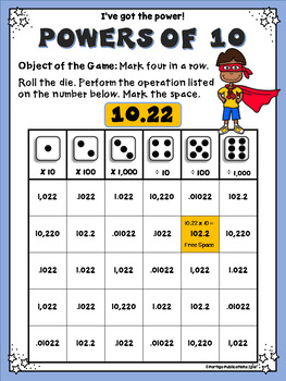 Powers of Ten Math Stations: Multiply and Divide