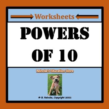 Powers of Ten Practice Worksheets