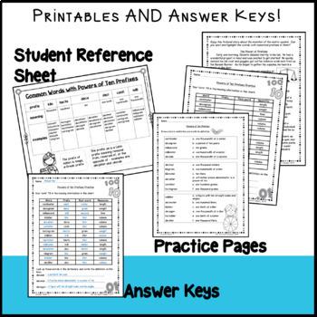 Powers of Ten Prefixes - Teach Greek and Latin Number Prefixes - No Prep
