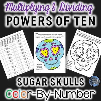 Powers of Ten Halloween Color by Number