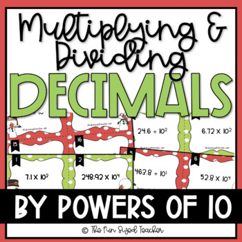 Powers of Ten Decimal Multiplication and Division Task Cards