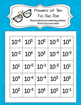 Powers of Ten: Tic Tac Toe