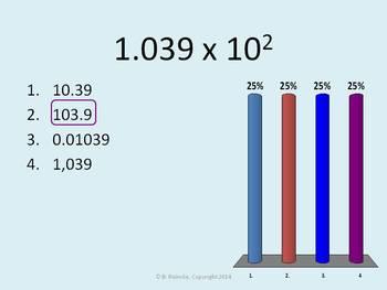 Powers of Ten TurningPoint Clicker Presentation