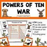 Powers of Ten Games - Powers of Ten War!  5.NBT.2