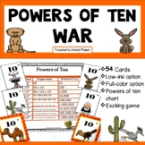 Powers of Ten Games - Powers of Ten War!  5.NBT.2
