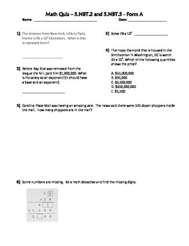 Powers of Ten and Multiplication of Whole Numbers