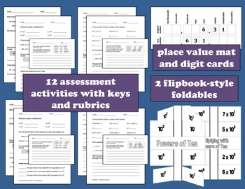 Powers of Ten bundle - task cards, games, assessments and more