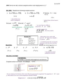 Powers of i, Add and Subtract Complex Numbers