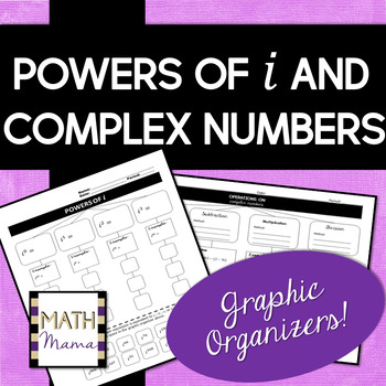 Powers of i and Complex Numbers - Graphic Organizers!