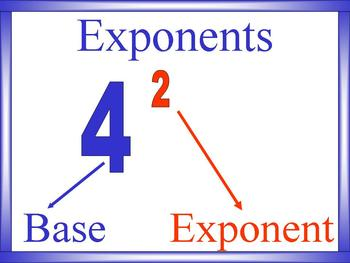 Powers/Exponents and Handout Math PowerPoint