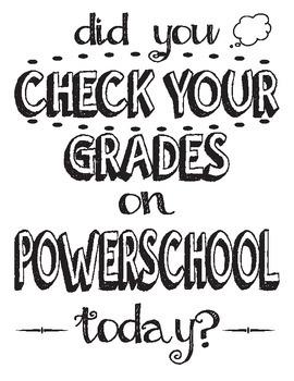 Powerschool Reminder Sign