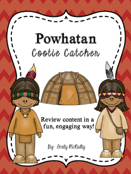 Powhatan (Eastern Woodlands) Cootie Catcher (Fortune Teller)