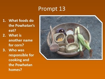Powhatan Indian Writing Prompts