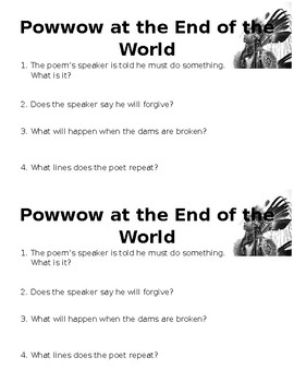 Powwow at the End of the World Mini-Check (Quiz/Check for Understanding)